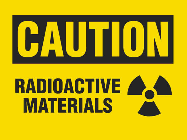 Caution Radioactive Material